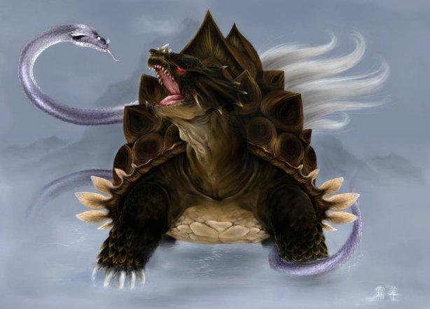 Gambar 4 Hewan Legenda Penjaga Mata Angin Di Korea hewan  Genbu